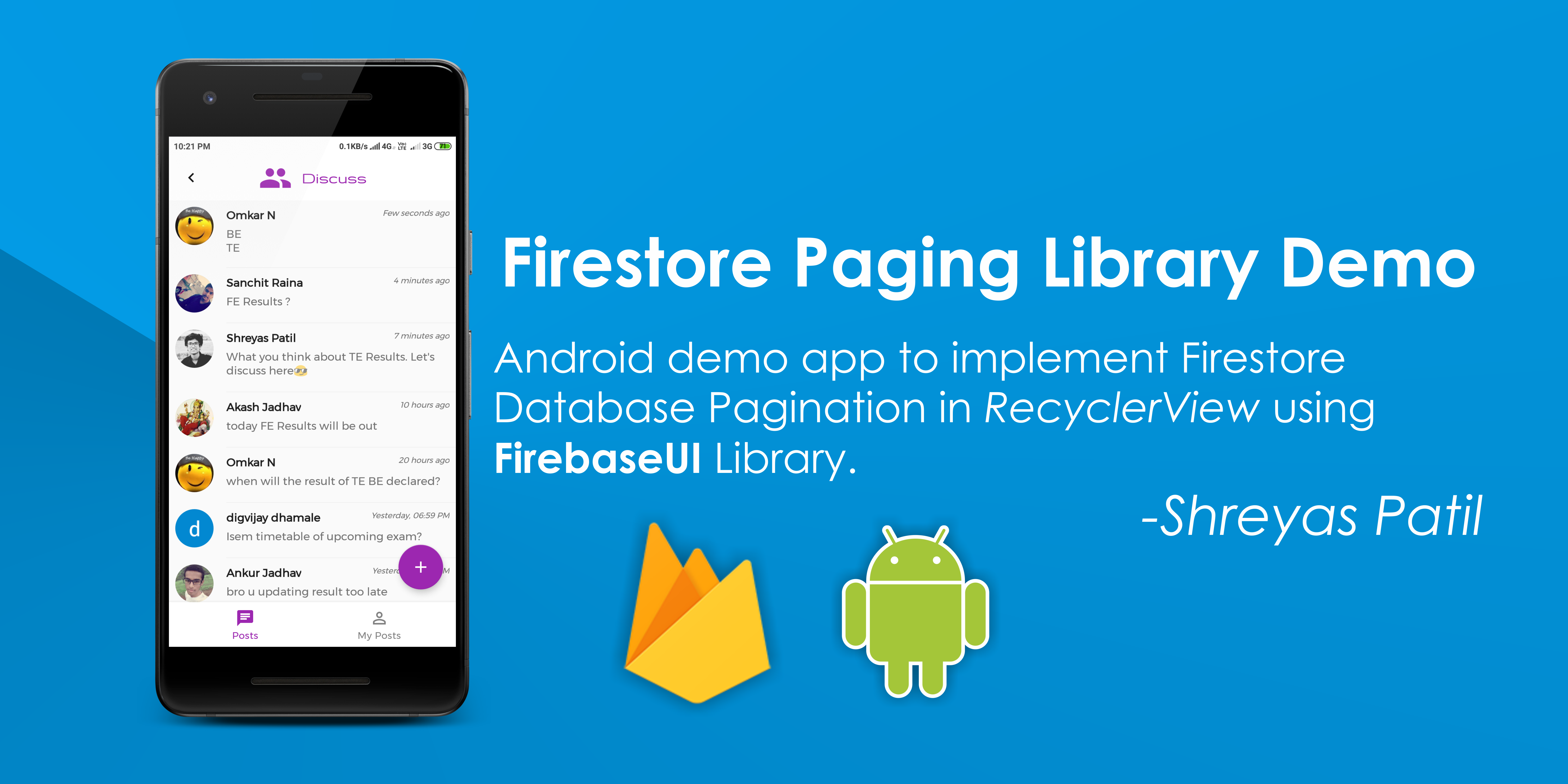 Firestore Pagination using FirebaseUI library